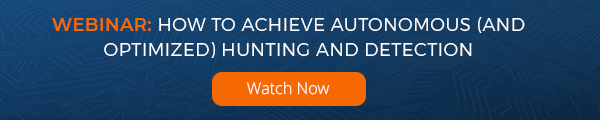 On-demand webinar: how to achieve autonomous and optimized hunting and detection for cybersecurity